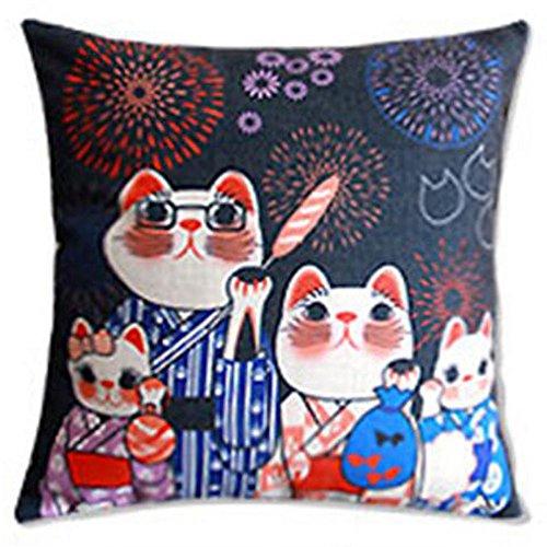 Black Temptation Style Japonais Coussin d'oreiller Confortable pour la Maison/Sushi Restaurant 45x45cm -A14