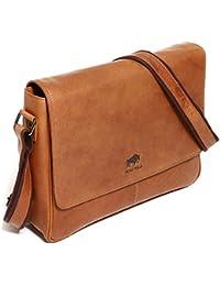 3871e458a50e Solo Pelle Leder Messenger Tasche   Umhängetasche aus echtem Leder Modell   4012
