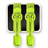 Elastische Schnürsenkel Mit Schnellverschluss - ELECHOK Elastische Selbstbindende Schnürsenkel - Schnellschnürsystem für Arbeitsschuhe,Stiefel,Turnschuhe und Wander -Neon Gelb