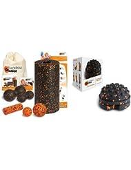 Blackroll Orange (Das Original) DIE Selbstmassagerolle - Komplett-Set STANDARD mit miniBAG, Übungs-DVD, -Poster und -Booklet & blackroll-orange TWISTER