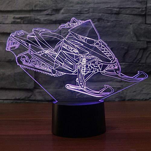 3D Led ski schnee maschine nachtlicht Usb touch button tischlampe 7 farbe schneemobil auto dekoration nachttischlampe geschenk