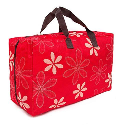 PGYZ wasserdicht Oxford Tuch waschbar Aufbewahrungstasche Aufbewahrungstasche rote Blume 60x49x33cm