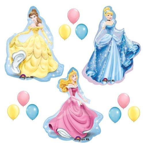 DISNEY PRINCESS BALLOONS SET sleeping beauty belle cinderella party birthday by Lgp