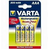 """VARTA Blister de 4 Accu NiMH """"Longlife Accu"""" 800 mAh Micro AAA/HR03"""