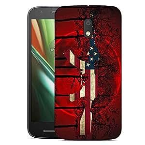 Snoogg Us Ak47 Black Tree Red Designer Protective Back Case Cover For Motorola Moto E3