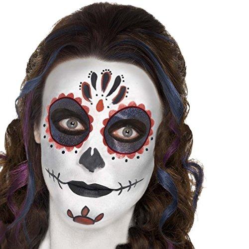 Schminke Mexikanische Totenmaske Sugar Skull Makeup-Set mehrteilig Tag der Toten Beauty Kit Dia de los Muertos Accessoires Todesmaske Schminkutensilien La Catrina Halloween - Halloween-look Skull Sugar