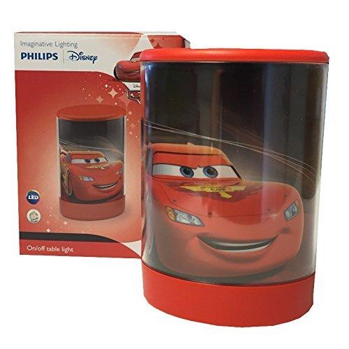 Philips Cars-Lámpara de mesa LED Lámpara Lightning Mcqueen, DISNEY PIXAR, luz nocturna, dormirte tranquilamente, lámpara
