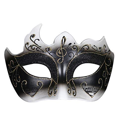 TUWEN Halloween Maske Maskerade Maske Goldpuder Polygon Erwachsenen MäDchen Party Maske Halbgesichts Prinzessin Venice Maske