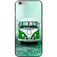 Old Camper Van carcasa rígida para teléfonos móviles, plástico, Old Green Camper Van, Apple iPhone 6 PLUS