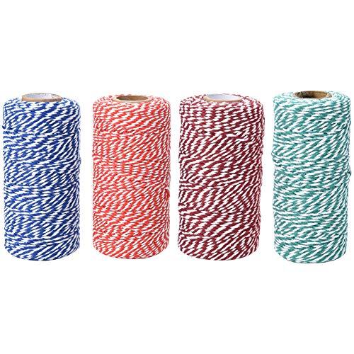 4 Rollos 100 m cordón de algodón con Dos Hilos