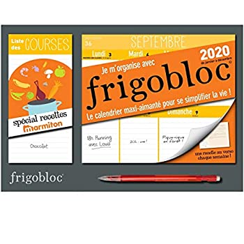 Mini Frigobloc hebdo 2020 spécial Recettes Marmiton (de janvier à décembre 2020): S'organiser n'a jamais été aussi simple !