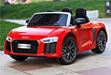 GetBest 12V Battery Operated Audi R8 Spyder Licensed Ride-on 2-Piece Car with Remote