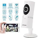 KKmoon HD 720P 180° Panoramico Fisheye Wireless WiFi Rete IP Telecamera Baby Monitor Supporto TF Scheda IR-CUT Visione Notturna 2-Vie Conversazione P2P Android/iOS APP Rilevamento del Movimento