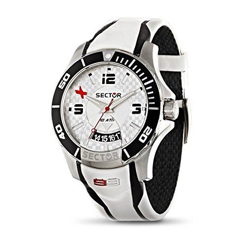 Sector R3251577001 - Reloj con correa de piel, para hombre, color blanco