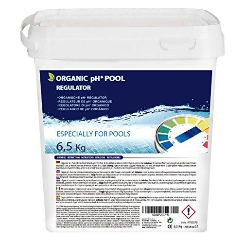 Elevador orgánico de pH+ Plus, 6.5kg para piscina, mejora la calidad del agua, beneficioso para la salud. Producto CE.