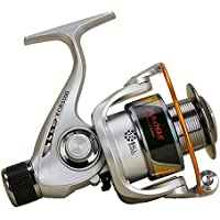 WYDM Spinning Fishing Reel 12 + 1 Bearings Left Right Manija Intercambiable para Agua Salada Pesca de Agua Dulce con Doble Sistema de Freno de Arrastre (Tamaño : 7000)