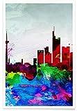 JUNIQE® Frankfurt Poster 20x30cm - Design