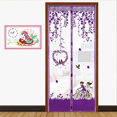 Full-frame velcro Türen für häuser bildschirm,Türen mit magneten bildschirm Velcro magnetische tür siebgewebe Sommer] Abgeschnitten Der moskito Tür vorhang Bildschirm-D 90x200cm(35x79inch)