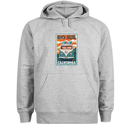 KoalaCovers Surfers California T1 Hippie Reggae Bus Gris Sudadera con Capucha Unisex XX Large
