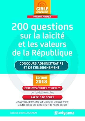 200 questions sur la lacit et les valeurs de la rpublique
