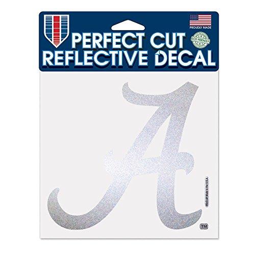Wincraft NCAA Universität von Alabama Reflektierende Perfekten Schnitt, 15,2x 15,2cm Schwarz Alabama Crimson Tide Laptop