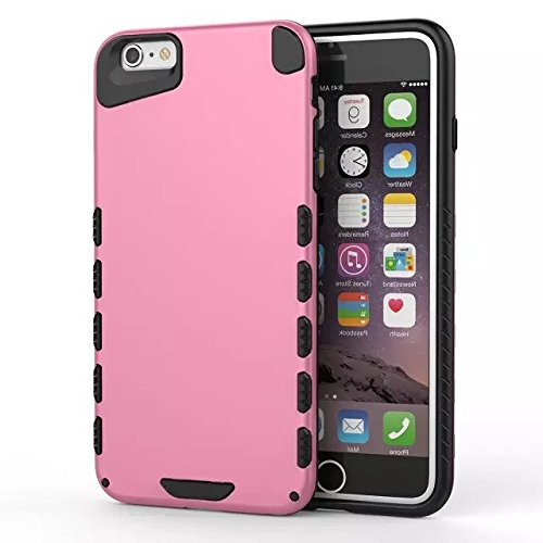 GR IPhone 6 6S PLUS Cover, Solid Color 2 In 1 neue Rüstung Tough Style Hybrid Dual Layer Defender PC Hard Back Cover Shockproof Case ​​Für IPhone 6 6S Plus ( Color : 6 ) 3