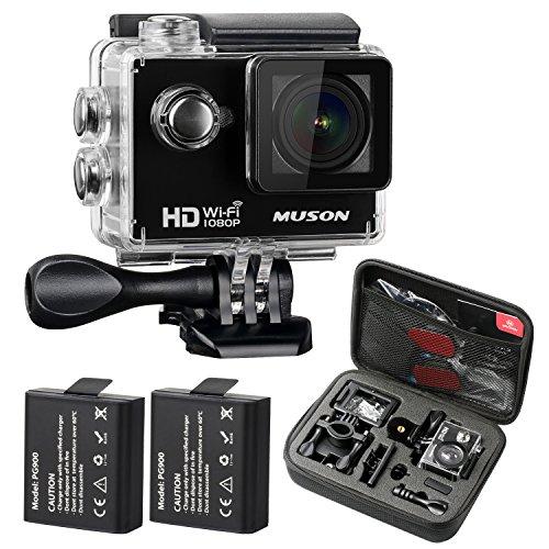 Galleria fotografica MUSON Action Cam sportivo HD 1080P WiFi Digitale Videocamera 30M subacquea impermeabile da 2' e obiettivo nella massima ampiezza di 170°