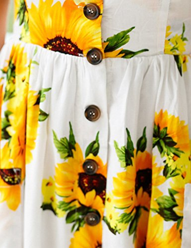 BMJL Home Women Dress Floral Printed V-Neck Adjustable Spaghetti Strap ... e2f8421c9