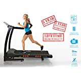JLL® S300 digital treadmill, Two man delivery included, 20 Auto incline, digital motor control technology with 4.5HP motor and 16 km/h max speed with 5 years guarantee, 2016 new generation Digital Motorised Treadmill with CE certification, High power speakers, USB audio interface, 15 professional running programmes, folding and wheels, Digital motor controller with unique 0.3 km/h (0.18 mph) smooth start speed, Lifetime frame guarantee and 2-year Parts & Labour warranty.