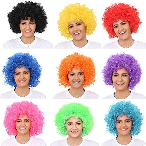 (Hatstar Afro Perücke Lockenkopf Lockenperücke Rasta Afroperücke für Karneval und Fasching (Afro braun 140g))