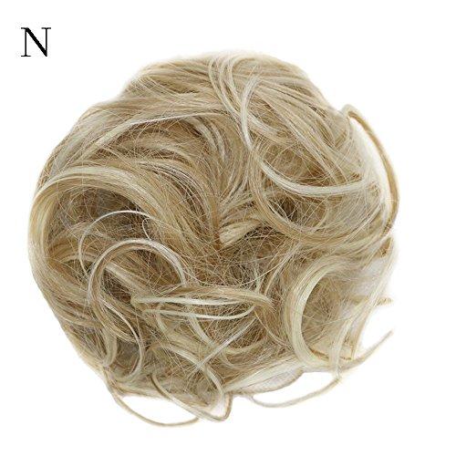 Luckhome Lockige Unordentliche Haargummis, Haarknoten, Dutt, Haarverlängerung, Natürliches Lockiges Gewelltes Haarteil Für Damen Frauen Unordentliches Brötchen Haar Wirbel Stück Scrunchie (N)