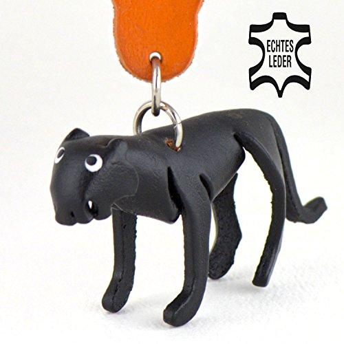 Jaguar / Leopard Guyana - Schlüsselanhänger Figur aus Leder in der Kategorie Kuscheltier / Stofftier von Monkimau in schwarz - Dein bester Freund. Immer dabei! - ca. 5cm klein (Womens Neue Diesel)