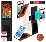 reboon Hülle für Elephone P9000 Tasche Cover Case Bumper | Braun Leder | Testsieger
