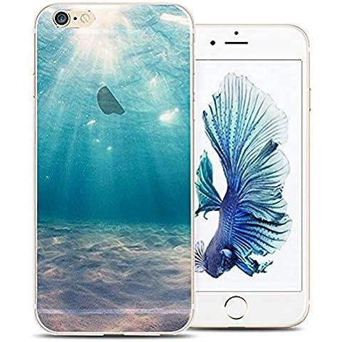 iPhone 6S Plus Case, iPhone 6 Plus Case, Ranrou case,Ranrou Soft TPU Silicone Clear Cases for iPhone 6 6S Plus -Sea
