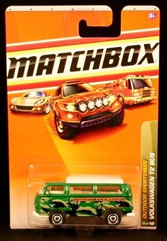 VOLKSWAGEN T2 BUS Outdoor Sportsman Series (#6 of 10) MATCHBOX 2010 Basic Die-Cast Vehicle (#79 of 100) by Matchbox