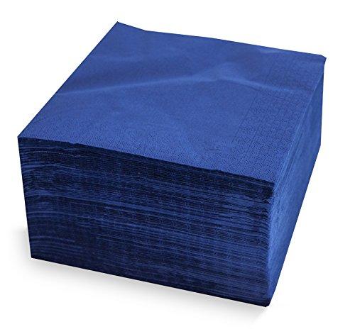 39Collection, Serviette 40x 40, 2-lagig, 1/4Falz, 100Servietten, 2-lagig uni mit Bordüre, Blau ()