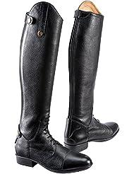 Equi-thème–Botas de equitación piel primera–2colores: negro o marrón, negro