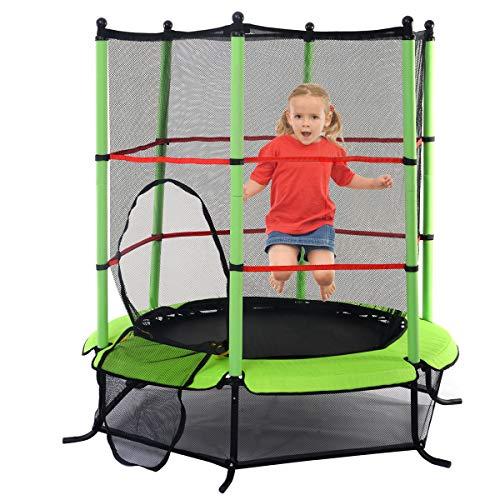 Blitzzauber24 Trampoline de Jardin Trampoline Jump Enfant Trampoline Extérieur avec Filet de Sécurité