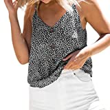 cinnamou Damen Tank Top Frauen T-Shirt Casual Sommer Bluse Sommer Oberteile Strappy Cami Camisole Top Damenmode Sommertop