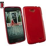 Emartbuy® LG L90 Glänzend Gel Hülle Schutzhülle Case Cover Rot