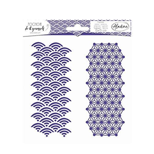 Aladine - Pochoir DIY Géométrique Japonais - Scrapbooking, Décoration et Carterie Créative -...
