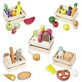 howa Kaufladenzubehör aus Holz - Lebensmittel, Obst, Gemüse, Eis uvm. 35 tlg. 14876