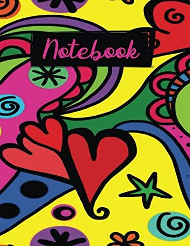 Notebook: Groovy Retro 60's Hippie Flower Power College Ruled Notebook Journal Logbook for Girls Teens Women 10 Power Girl