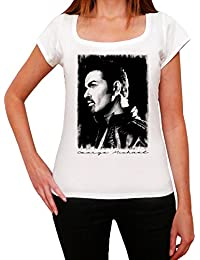 George Michael Portrait Melrose Tshirt, T-Shirt Femme, manche courte, cadeau