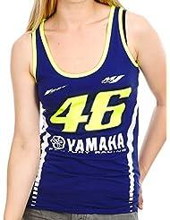 Camiseta sin mangas mujer Valentino Rossi Yamaha Racing Line Azul