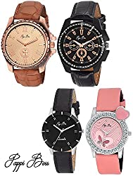 Pappi Boss Analogue Multi-Colour Dial Women's Watches -Dual Couple Watches