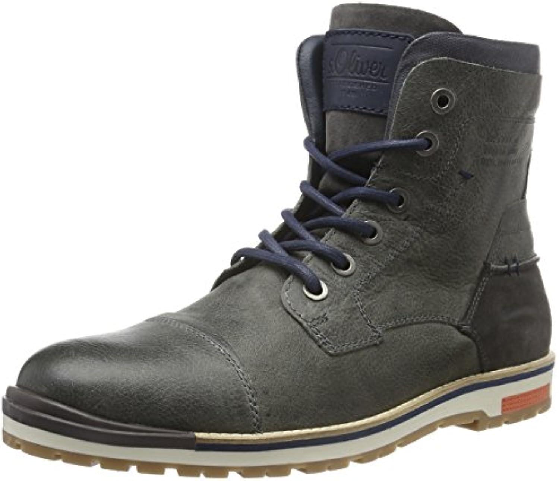 s.Oliver Herren 15218 Combat Bootss Oliver Herren 15218 Combat Anthracite Billig und erschwinglich Im Verkauf