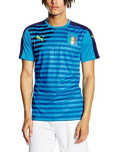 PUMA Herren T-Shirt FIGC Italia Stadium Jersey Atomic Blue-Peacoat, M