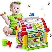 Baby Spielzeug,bunte musikalische lustige Steckhaus mit Licht und Musik Spielen,verschiedene geometrische und Tiere Steckbausteine,Entwicklung Förderung,für Mädchen,Jungen, Kleinkinder und Babys preisvergleich bei kleinkindspielzeugpreise.eu