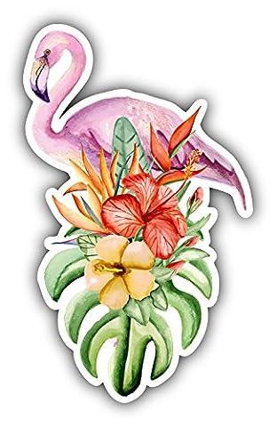 Watercolor Flamingo Bird Decor Autocollant De Voiture Vinyle 8 X 12 cm